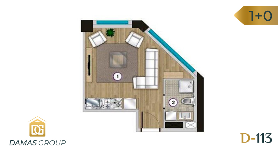 Damas Project D-113 in Istanbul - Floor Plan 01