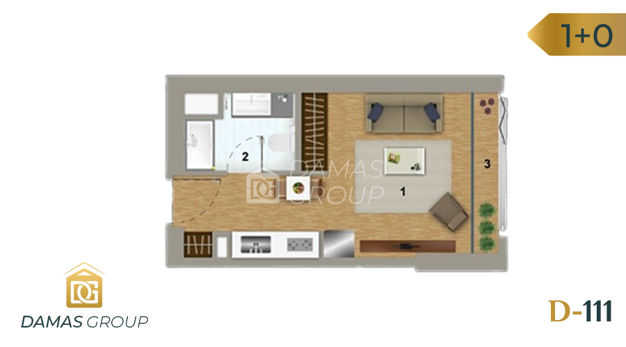 Damas Project D-111 in Istanbul - Floor Plan 01