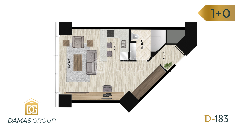 Damas Project D-183 in Istanbul - Floor Plan 01
