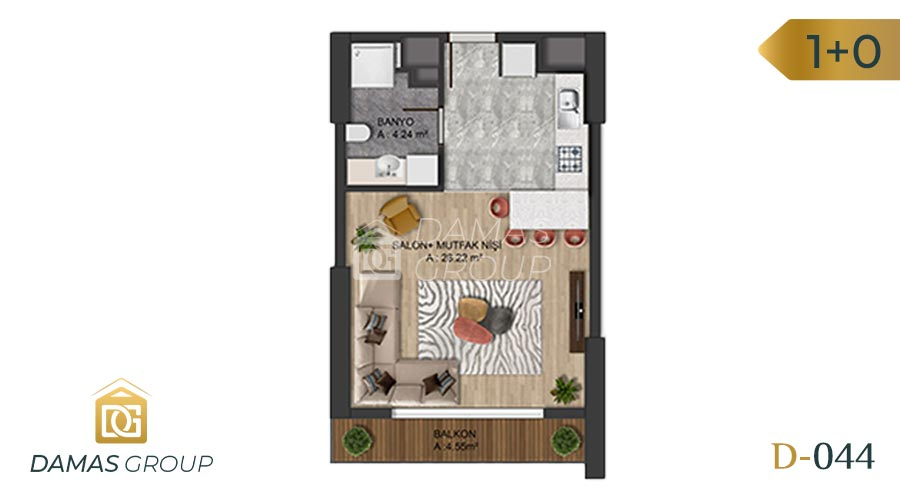 Damas Project D-0445 in Istanbul - Floor Plan 01