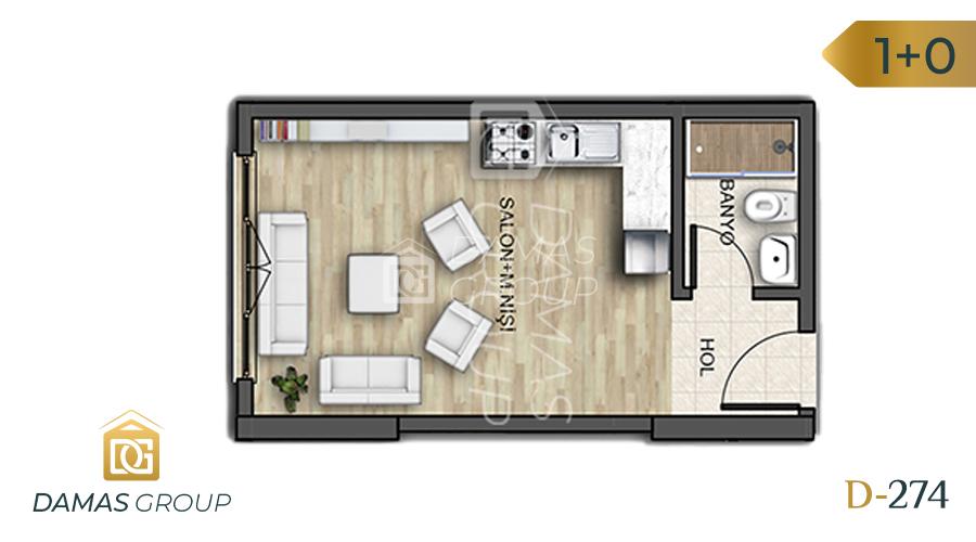 Damas Project D-274 in Istanbul - Floor Plan 01