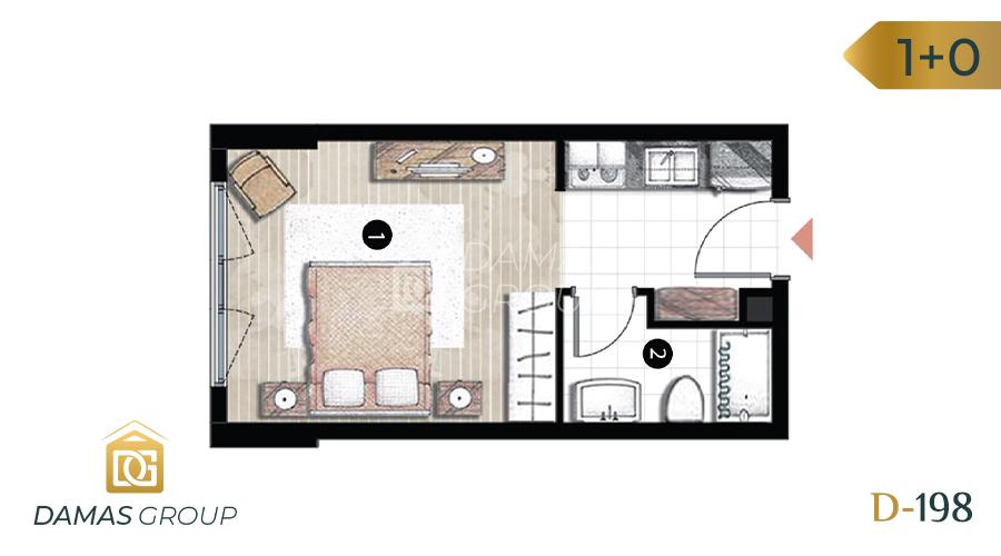Damas Project D-198 in Istanbul - Floor Plan 01