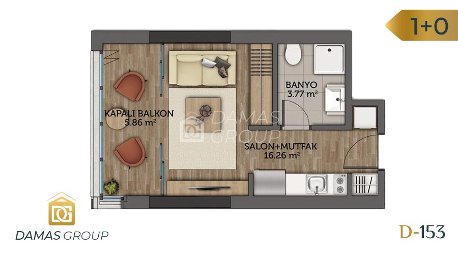 مجمع داماس153  في اسطنبول  - صورة مخطط 01