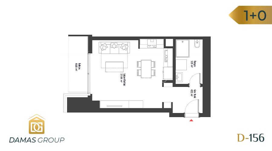 Damas Project D-156 in Istanbul - Floor Plan 01