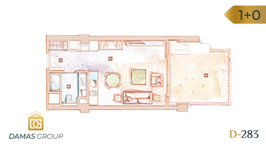 Damas Project D-283 in Istanbul - Floor Plan 01
