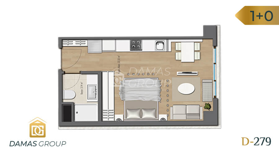 Damas Project D-279 in Istanbul - Floor Plan 01