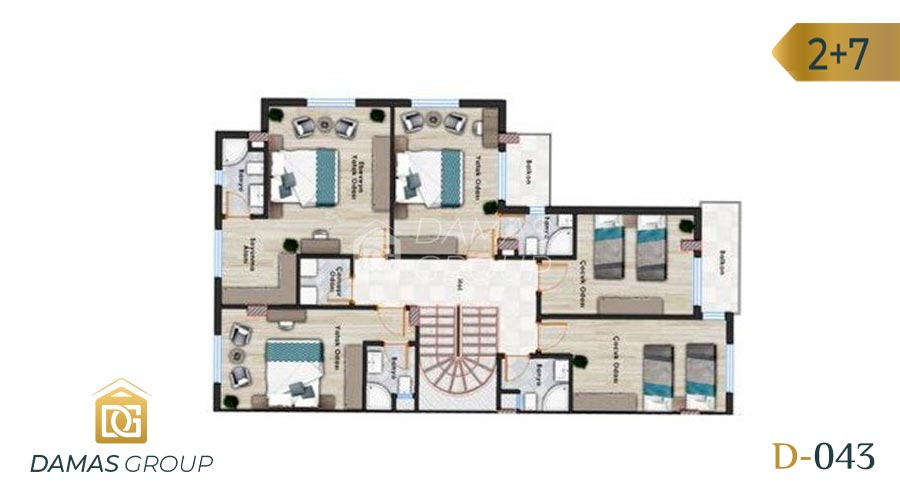 Damas Project D-043 in Istanbul - floor plan 02