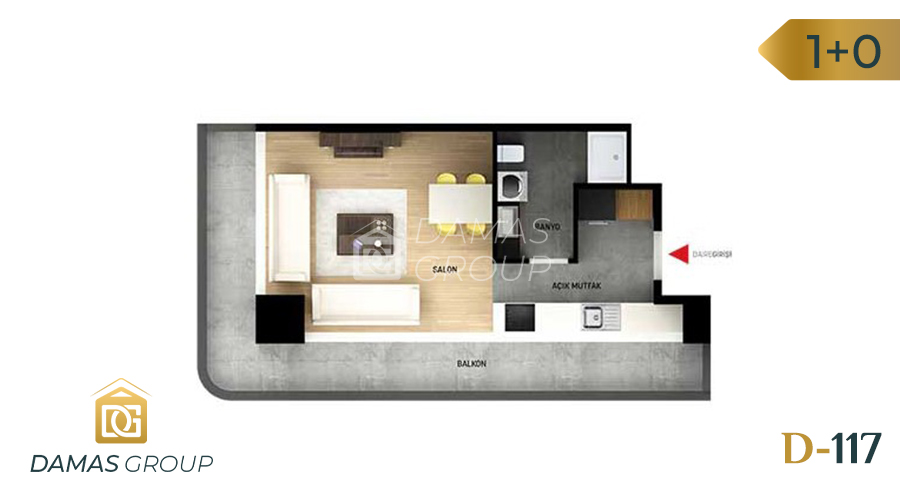 Damas Project D-117 in Istanbul - Floor Plan 01