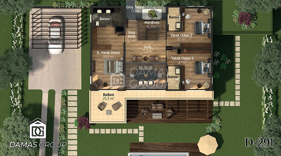 Damas Project D-291 in Istanbul - Floor Plan 01