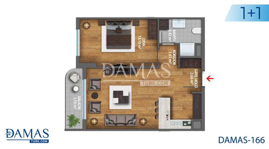 مجمع مجموعة داماس 166 في اسطنبول - صورة مخطط 01