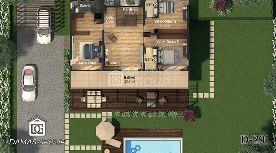 Damas Project D-291 in Istanbul - Floor Plan 03