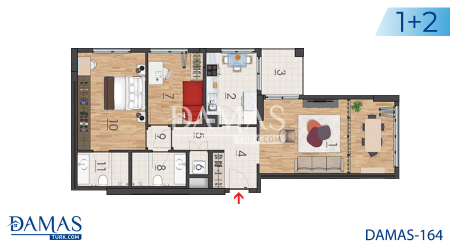 Damas Project D-164 in Istanbul - Floor plan picture 01