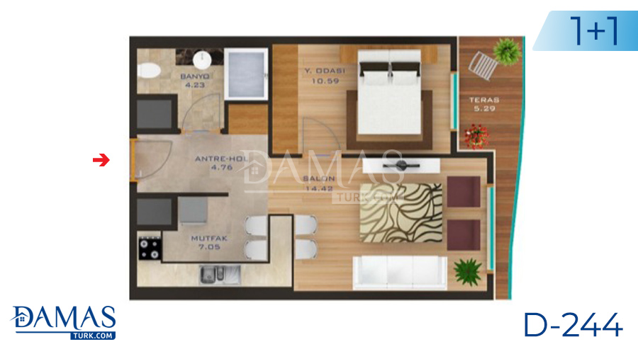 Damas Project D-244 in Istanbul - Floor plan picture  01