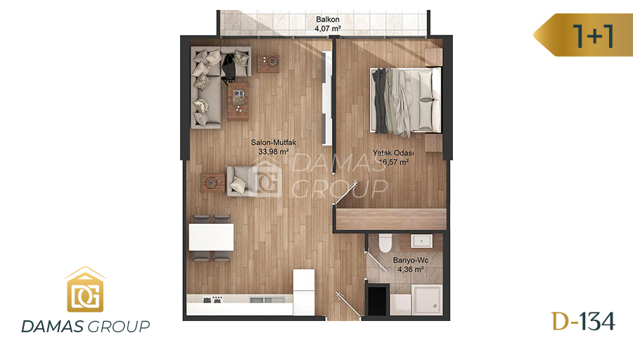 Damas Project D-134 in Istanbul - Floor Plan 02