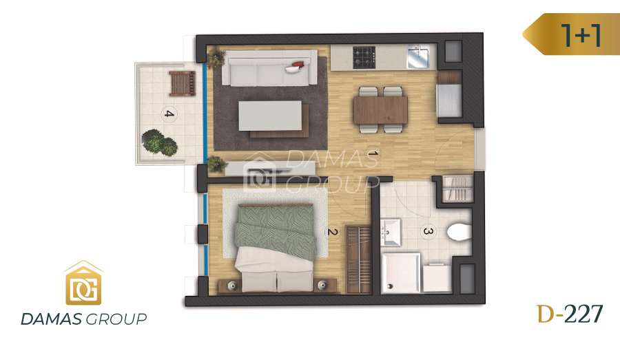 Damas Project D-227 in Istanbul - Floor Plan 02