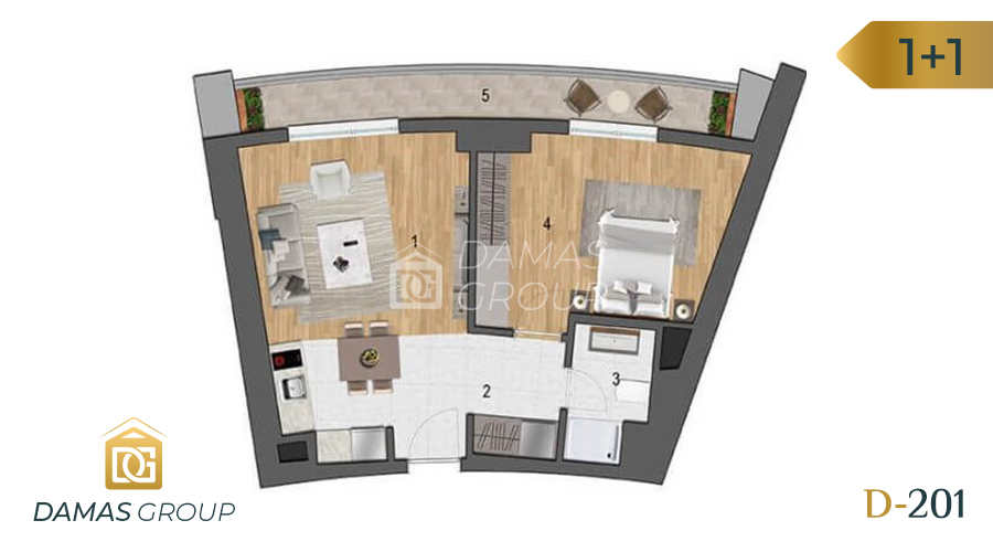 Damas Project D-201 in Istanbul - Floor Plan 02