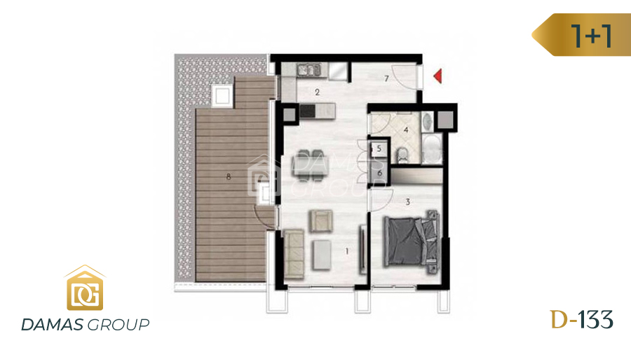 Damas Project D-133 in Istanbul - Floor Plan 02