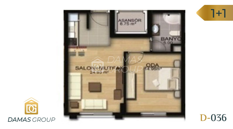 Damas Project D-036 in Istanbul - Floor Plan 02