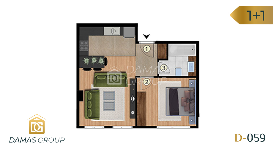 Damas Project D-059 in Istanbul - Floor Plan 02