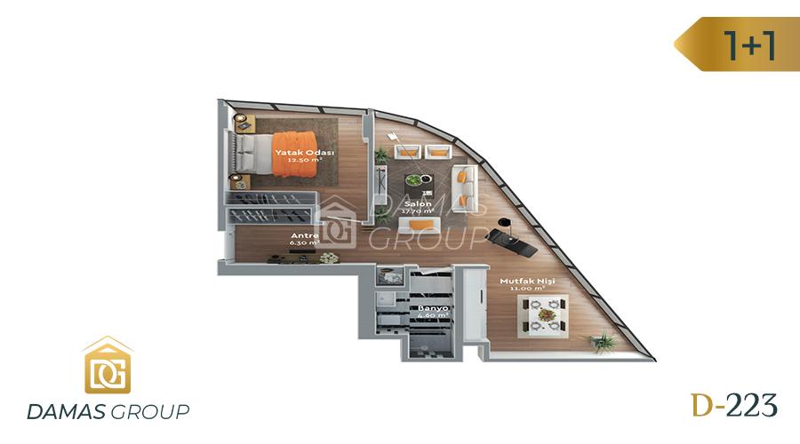 مجمع داماس 223 في اسطنبول  - صورة مخطط 02