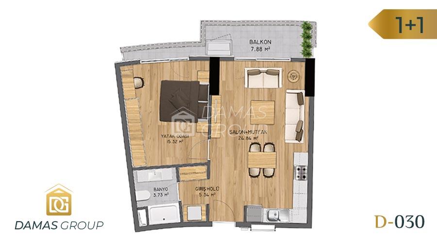 Damas Project D-030 in Istanbul - Floor Plan 02