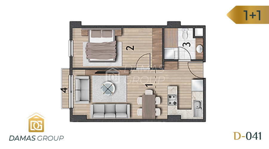 Damas Project D-041 in Istanbul - Floor Plan 02