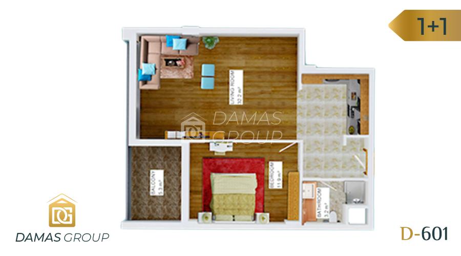 مجمع داماس 601 في انطاليا  - صورة مخطط  02