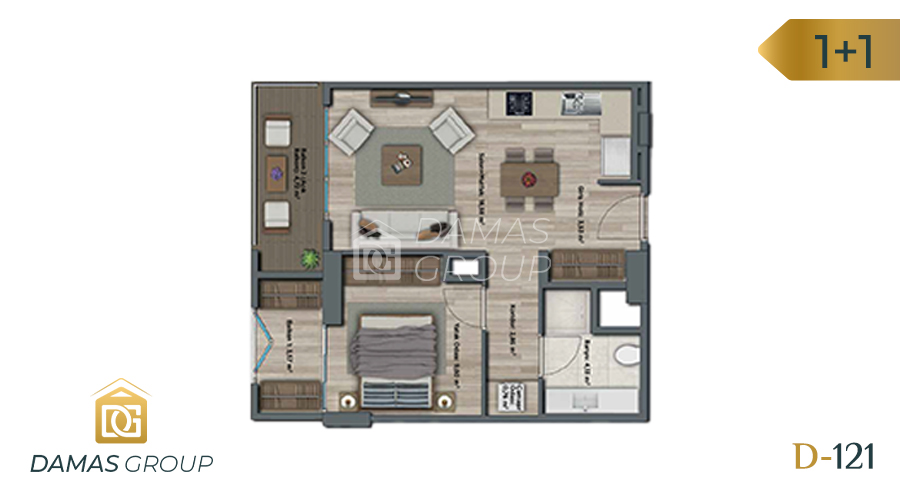 Damas Project D-121 in Istanbul - Floor Plan 02