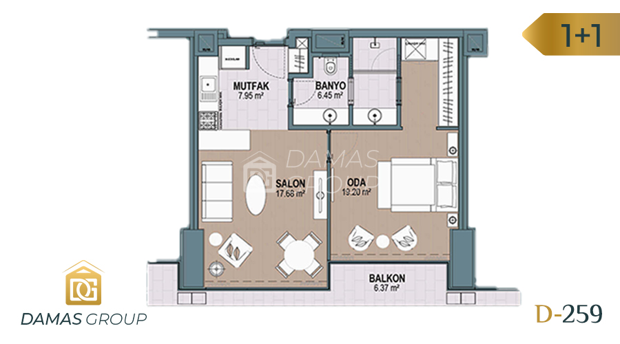 Damas Project D-259 in Istanbul - Floor Plan 02