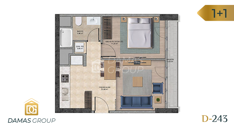 Damas Project D-243 in Istanbul - Floor Plan 02
