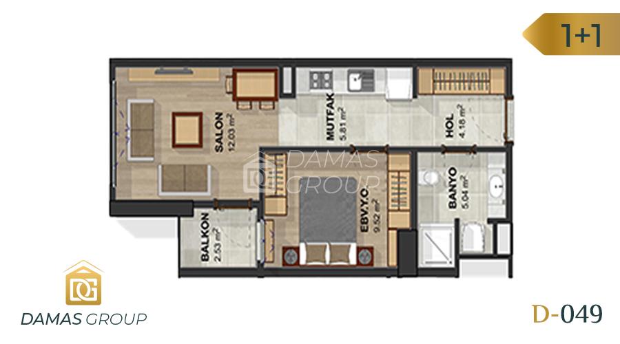 مجمع داماس 049 في اسطنبول  - صورة مخطط 02