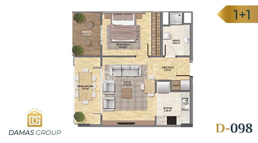 Damas Project D-098 in Istanbul - Floor Plan 03