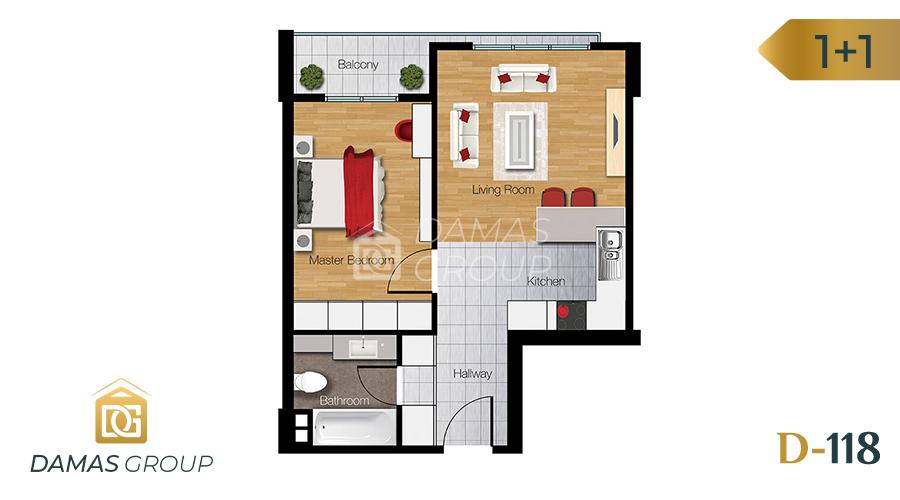 Damas Project D-118 in Istanbul - Floor Plan 01