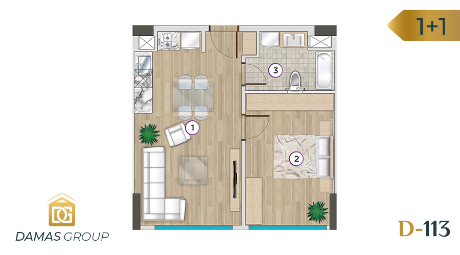 Damas Project D-113 in Istanbul - Floor Plan 02