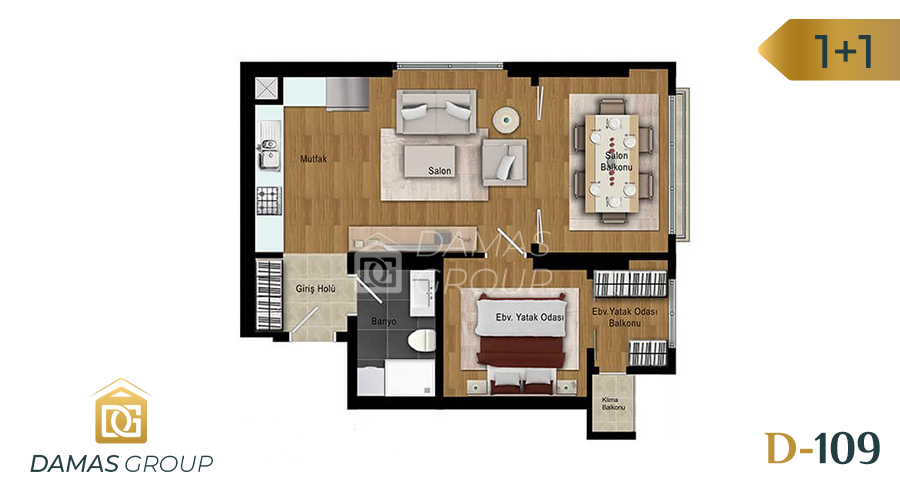 Damas Project D-109 in Istanbul - Floor Plan 01