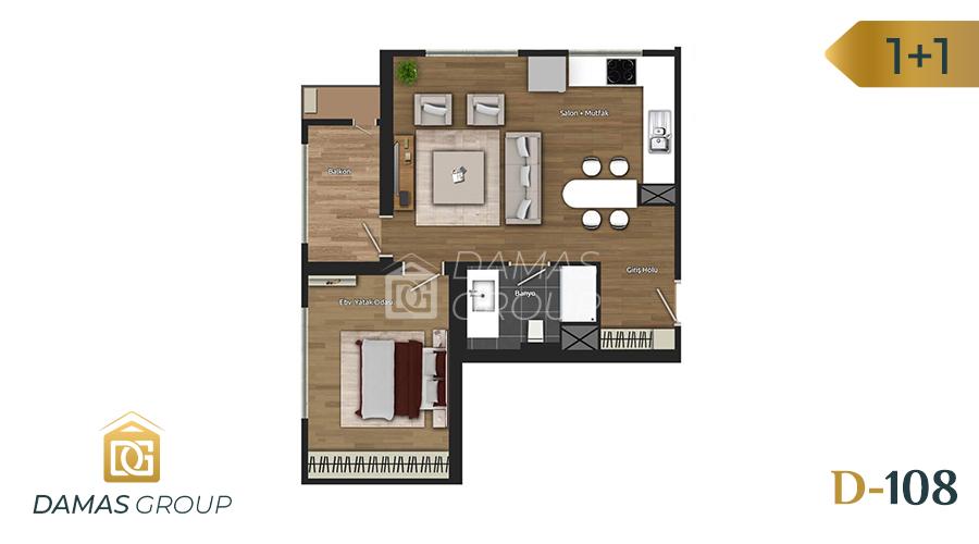 Damas Project D-108 in Istanbul - Floor Plan 01