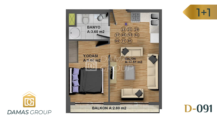 Damas Project D-091 in Istanbul - Floor Plan 03