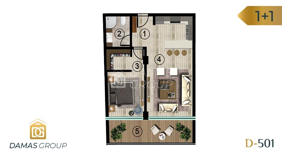 Damas Project D-501 in kocali - Floor Plan 02