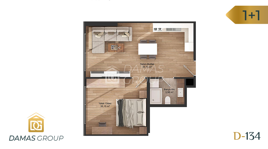 Damas Project D-134 in Istanbul - Floor Plan 01