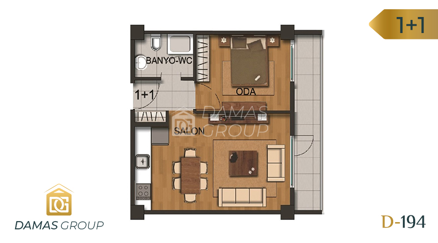 Damas Project D-194 in Istanbul - Floor Plan 01