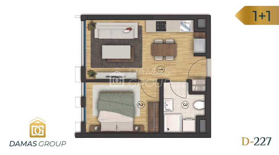 Damas Project D-227 in Istanbul - Floor Plan 01