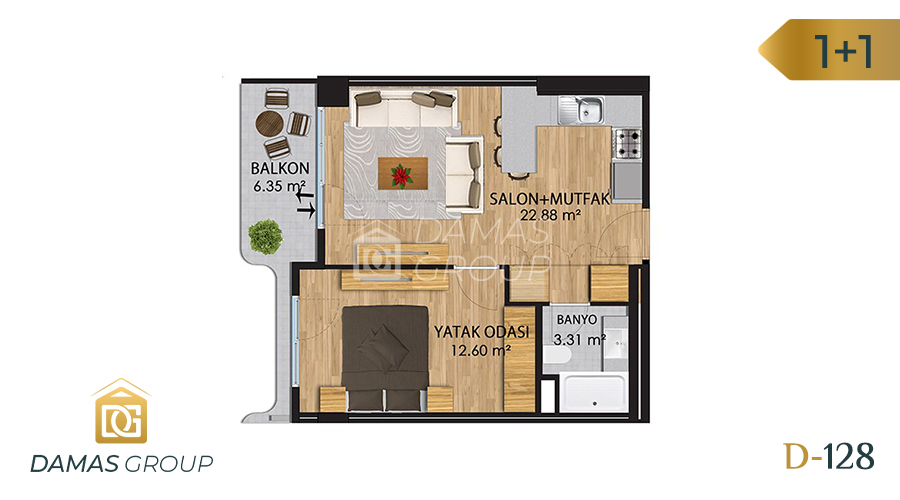 Damas Project D-128 in Istanbul - Floor Plan 01