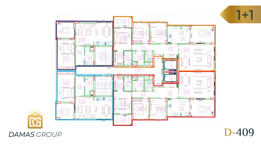 Damas Project D-409 in Trabzon - Floor Plan 01