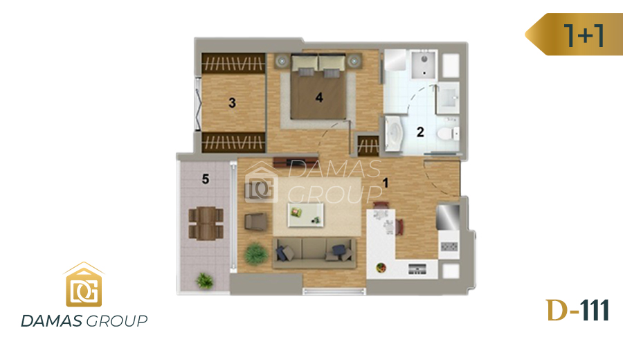 Damas Project D-111 in Istanbul - Floor Plan 02