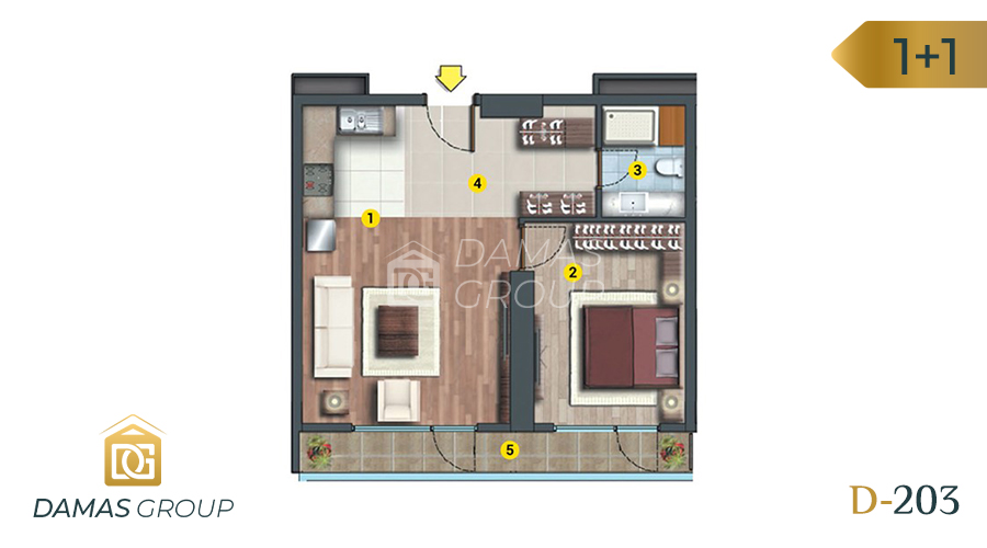 Damas Project D-203 in Istanbul - Floor Plan 01