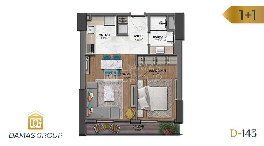 Damas Project D-143 in Istanbul - Floor Plan 01