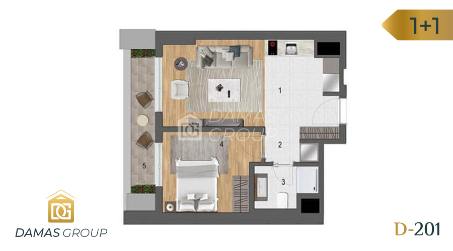Damas Project D-201 in Istanbul - Floor Plan 01