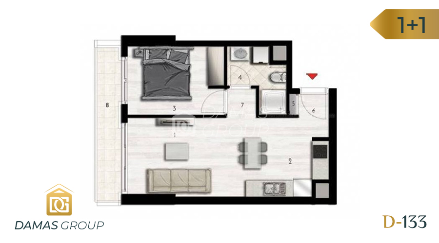 Damas Project D-133 in Istanbul - Floor Plan 01