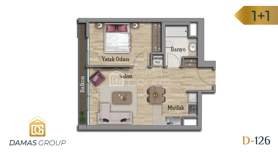Damas Project D-126 in Istanbul - Floor Plan 01