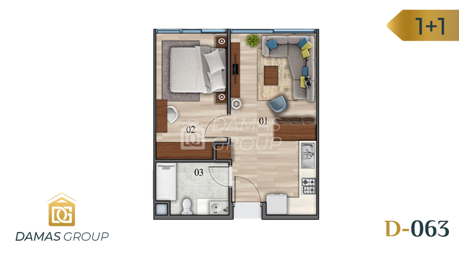 Damas Project D-063 in Istanbul - Floor Plan  01